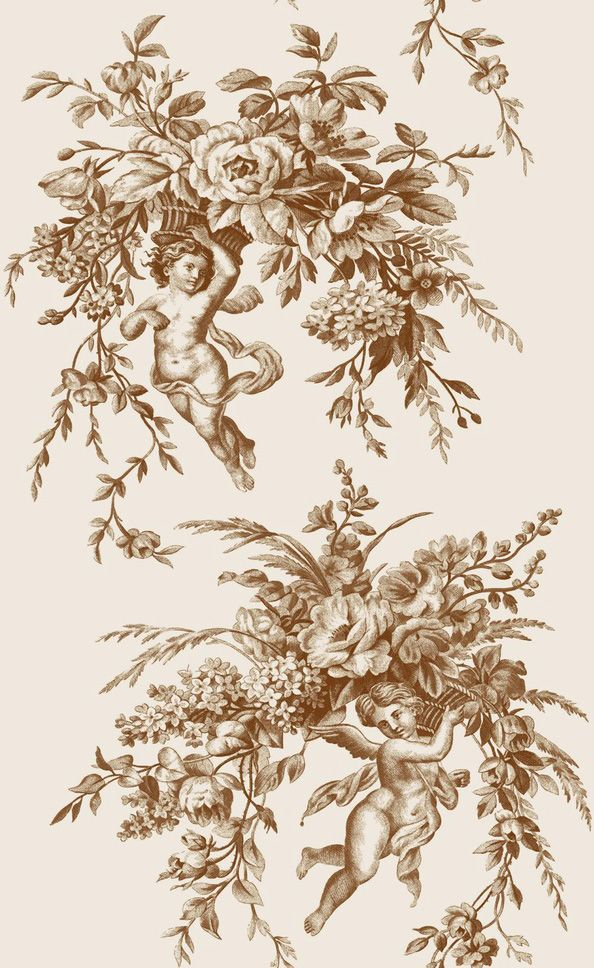 Toile de jouy justin Piment | Bouchara Collection