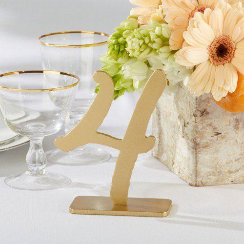 Script table numbers are an easy way to add a touch of romance to your wedding reception tables.