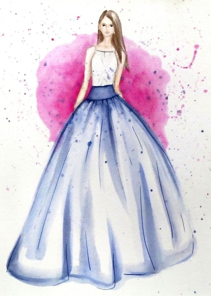 Christian Siriano spring/summer 2015 - fashion illustration by Neda Kovač