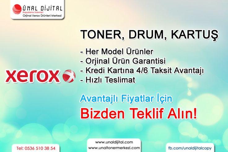 TONER, DRUM, KARTUŞ, YAZICI, FOTOKOPİ Avantajlı Fiyatlar, Bizden Teklif Alın! www.unaltonermerkezi.com - 0536 510 38 54