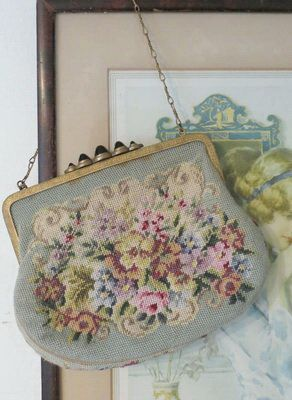 Antique needlepoint purse.