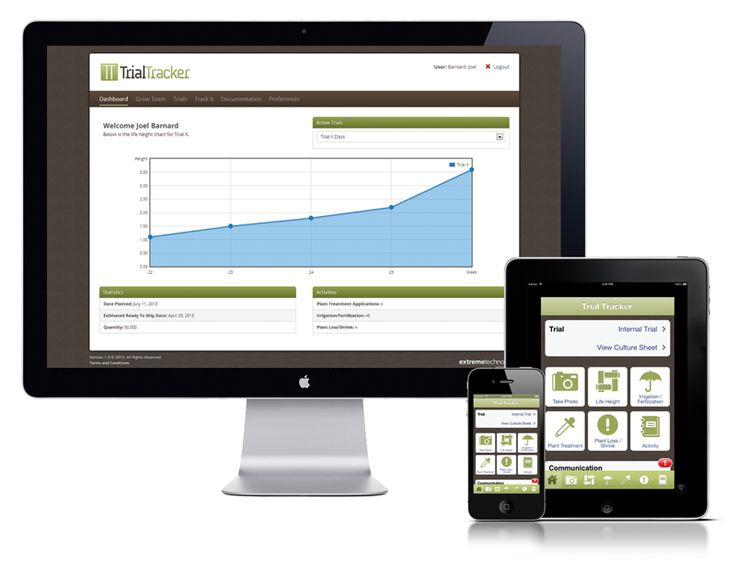 Developed to bridge the information gap in greenhouse trials between growers, breeders, retailers and the supply chain, Trial Tracker is an online and mobile portal that enables tracking of all trial activities. From plant measurements, crop data points, plant treatments, and more, Trial Tracker captures it all.
