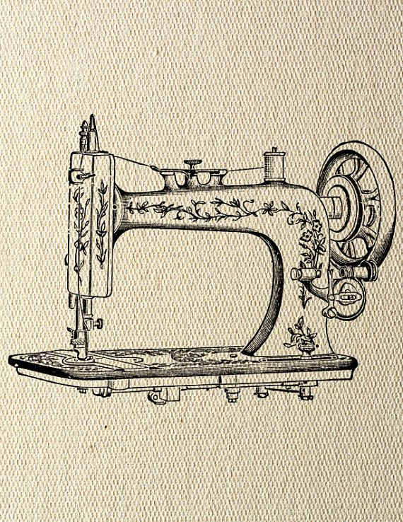 Sewing Machine Steampunk Instant Download Digital Transfer Image by LisaChristines, $1.00