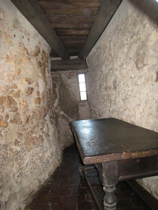 The cell that Vlad the Impaler stayed in for one night at Bran Castle