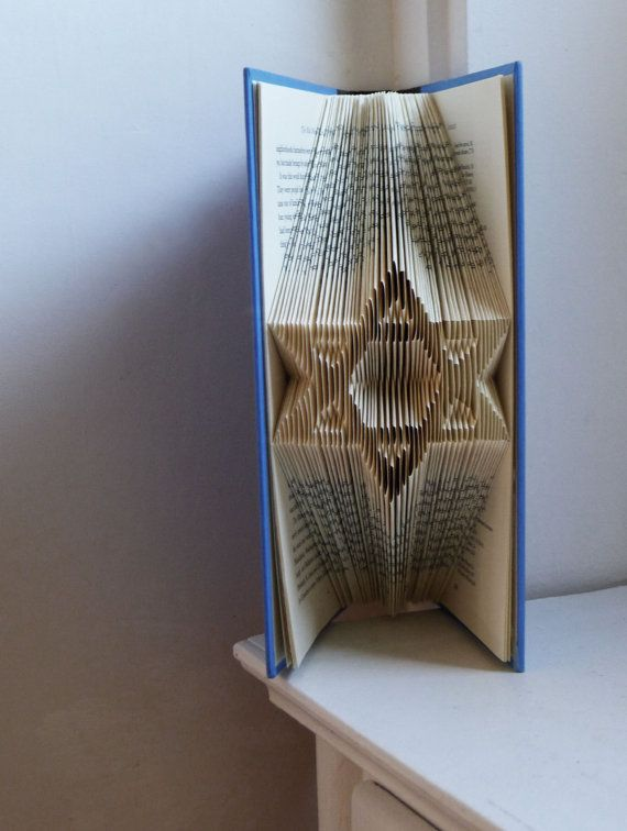 Star of David - Jewish Art - Unique Gift - Bar Mitzvah - Bat Mitzvah - Table Decoration - Favors - Folded Book Art - Centerpiece - Wedding