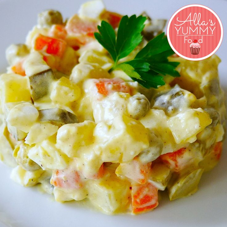 Russian Olivier Salad. Olivier salad is the most traditional Russian and Eastern European dish. It used to be made for holidays, parties and other special occasions
