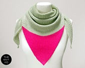 triangle scarf sunset hand dyed merino silk theknitkid made to order. €55,90, via Etsy.
