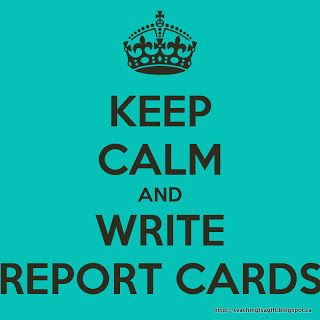 report card comments for writing