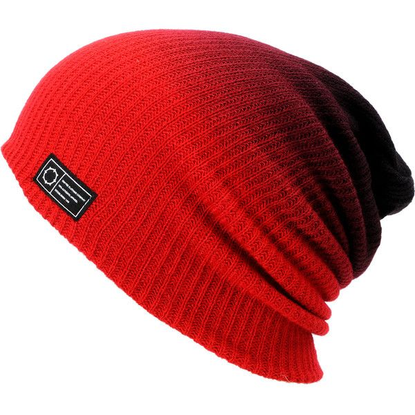 Empyre Black & Red Horizon Dip Beanie at Zumiez : PDP ❤ liked on Polyvore