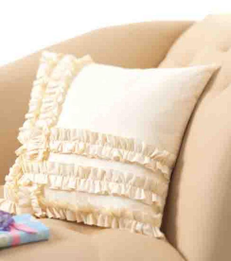 Tea Towels Pillow Talk: Ruffled Muslin Pillow