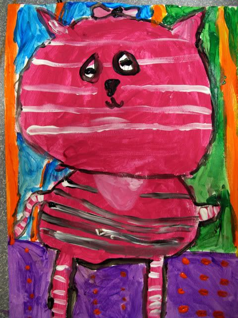 """cute idea: Have your kids make a """"pet portrait"""" of their pets (If they don't have pets, let them dream up what their dream pet would look like)"""
