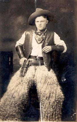 Cowboy with his Wooly Chaps