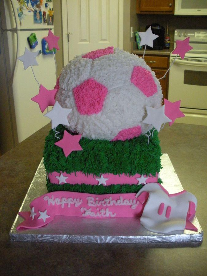 teen birthday cakes for girls | girls soccer cake