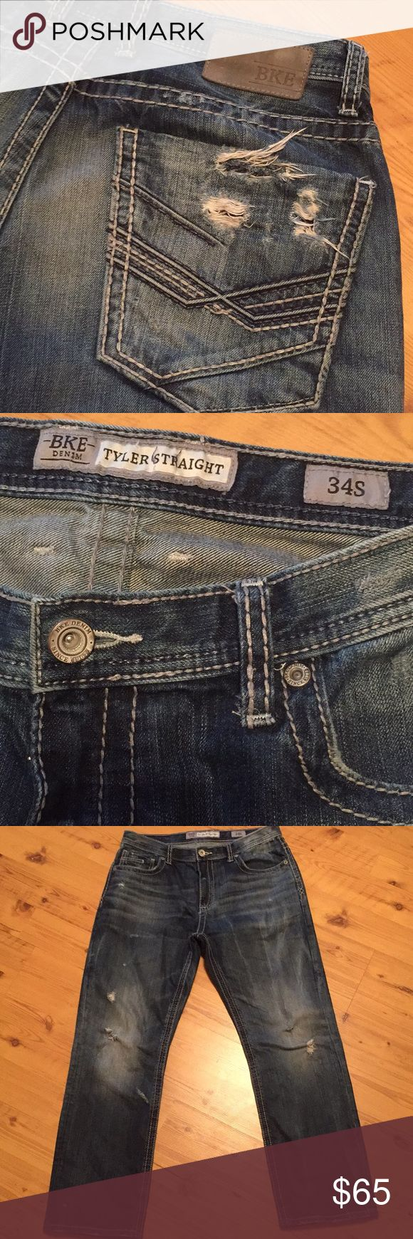 Men's BKE Tyler Relaxed Straight Jeans Men's bke tyler relaxed straight jeans size 34Wx30L. Gently used still in same condition as purchased. BKE Jeans Relaxed