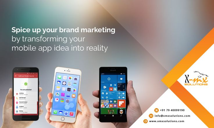 Spice up your #brand #marketing by transforming your #mobileapp idea into reality #Android #Iphone #WindowsMobile http://bit.ly/2dU95bt #xmxsolutions