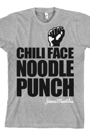 Chili Face Noodle Punch (Heather Grey)  #jenna marbles #quote