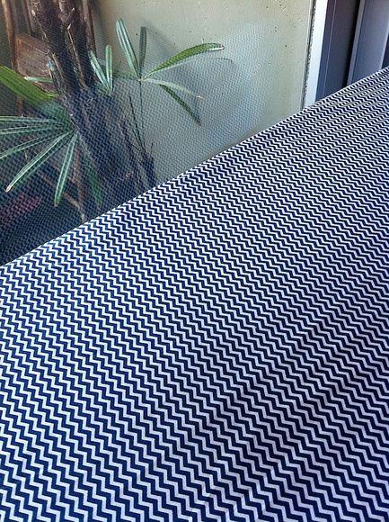 Toalha Mesa Mini Chevron Marinho 1,5x2m