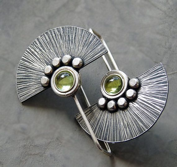 Sterling Silver Fun Earrings with Peridot Z2 by Kailajewellery, £45.00