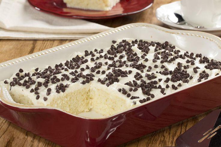 Nonna's Cannoli Poke Cake | MrFood.com