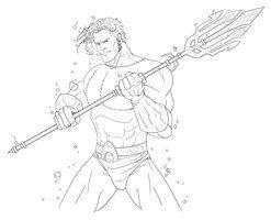 Aquaman Digital Sketch By SLewis18