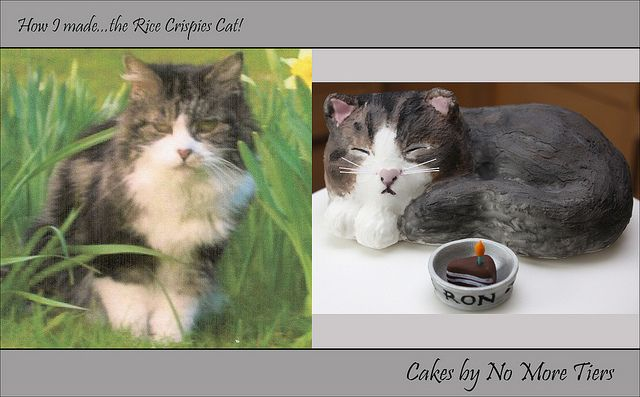 the Rice Crispies Cat!  See step by step pics below by Cakes by No More Tiers (York), via Flickr
