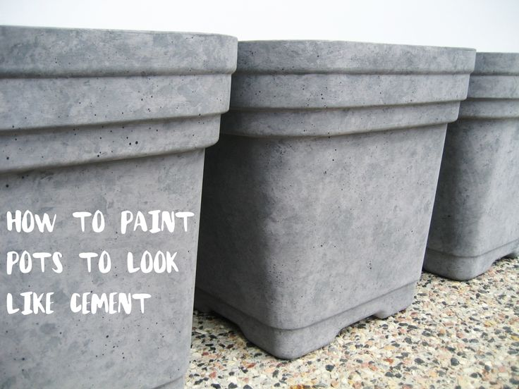 diy u2013 how to paint pots to look like faux cement concrete planters