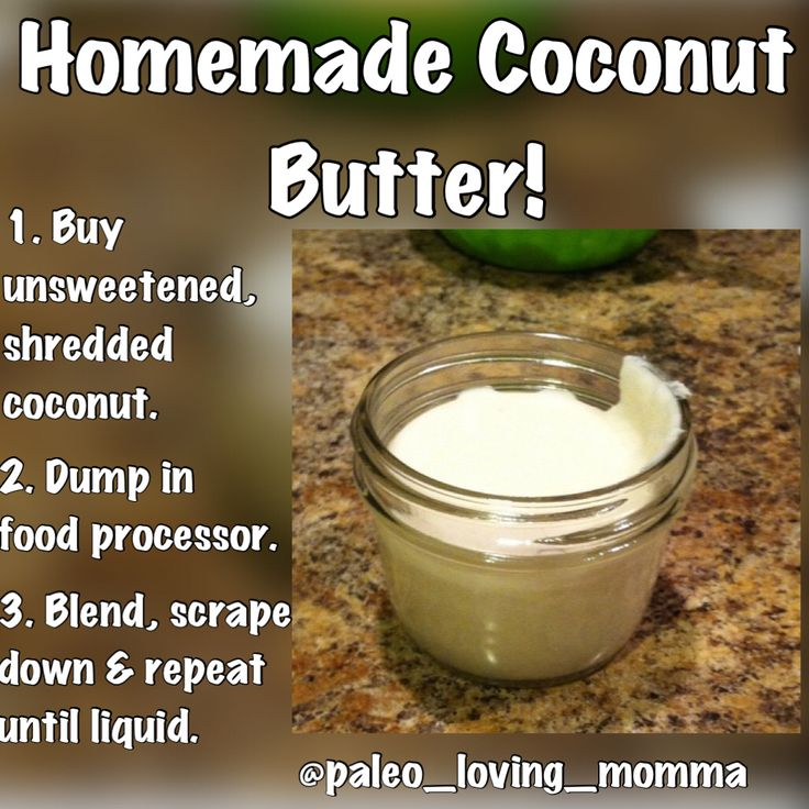 Home made coconut butter