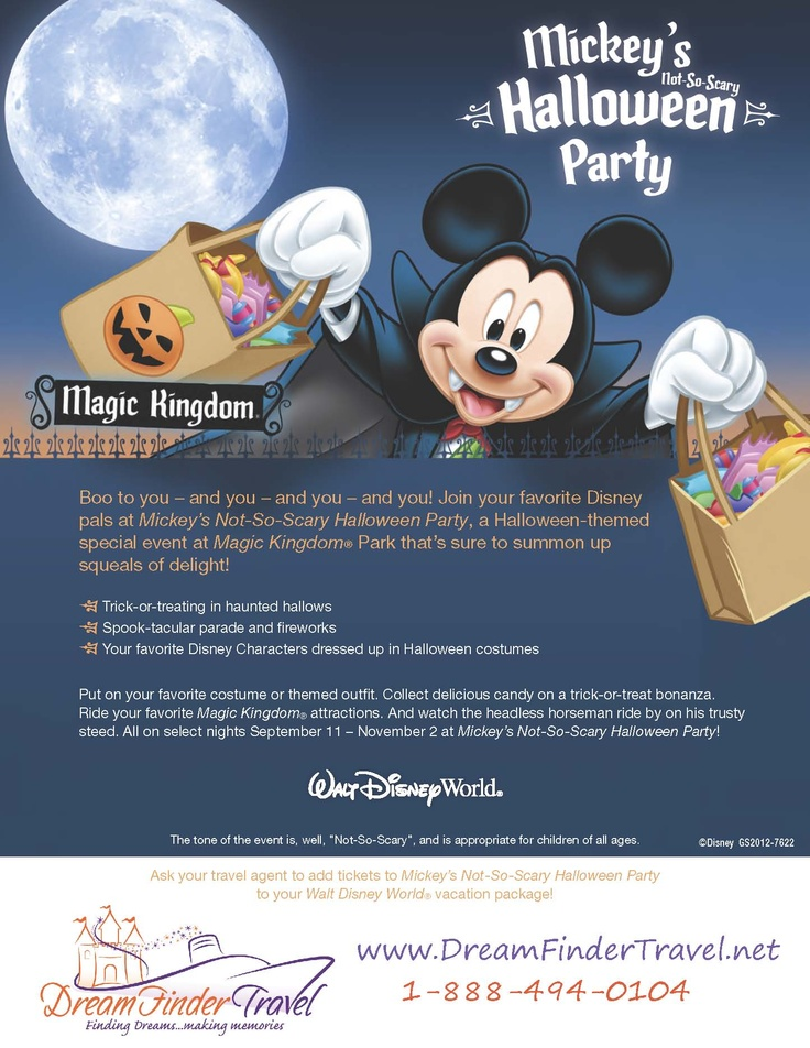 walt disney world halloween party get your tickets today to mickeys not so scary halloween - Tickets For Disney Halloween Party