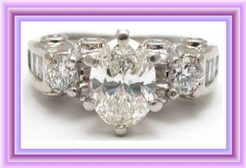 PURE PLATINUM LADIES 1.69tcw DIAMOND WEDDING ENGAGEMENT RING JEWELRY