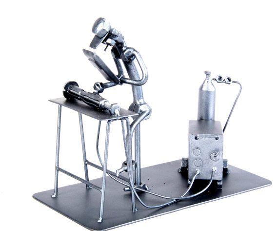 Welder - Metal Art Sculpture Unique Metal Diorama