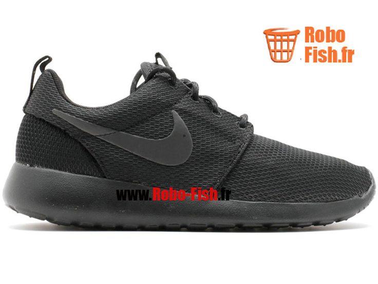 Nike Rosherun - Chaussure Nike Running Pas Cher Pour Homme Noir 511882-096