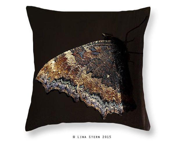 """Купить Платок, сумка, подушка. Авторский принт. """"Бабочка"""" - платок, шелковый платок, темно-серый"""