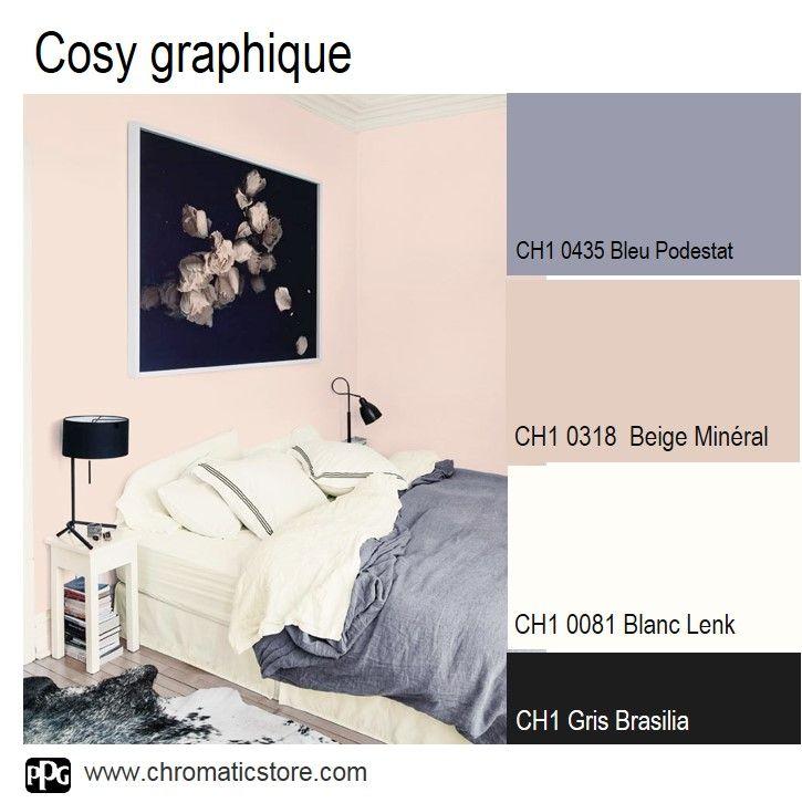 50 best complete bedroom set ups images on pinterest for Chambre rose et beige