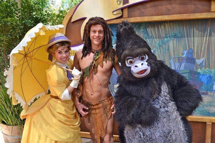"Cast of Tarzan is currently at Disneyland for ""Limited Time Magic"""