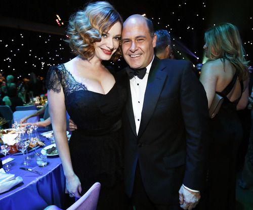 Christina Hendricks and Matthew Weiner #MadMen #Emmys