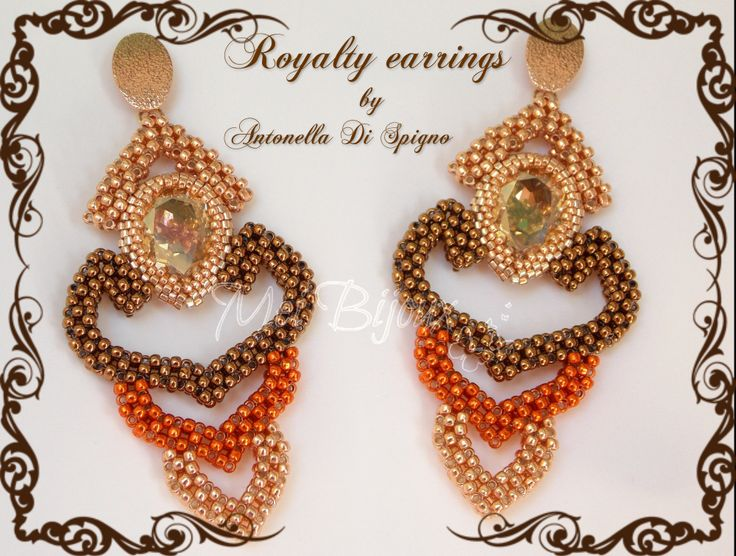 Royalty earrings - designed created by Antonella Di Spigno (MeiBijoux 2014). MeiBijoux fan page: https://www.facebook.com/244434058927046/photos/a.654831581220623.1073741835.244434058927046/654832431220538/?type=3theater