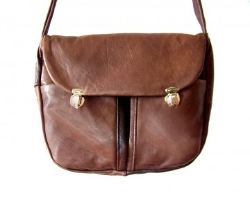 torby na ramię - damskie-TECZKA brązowa UNISEX