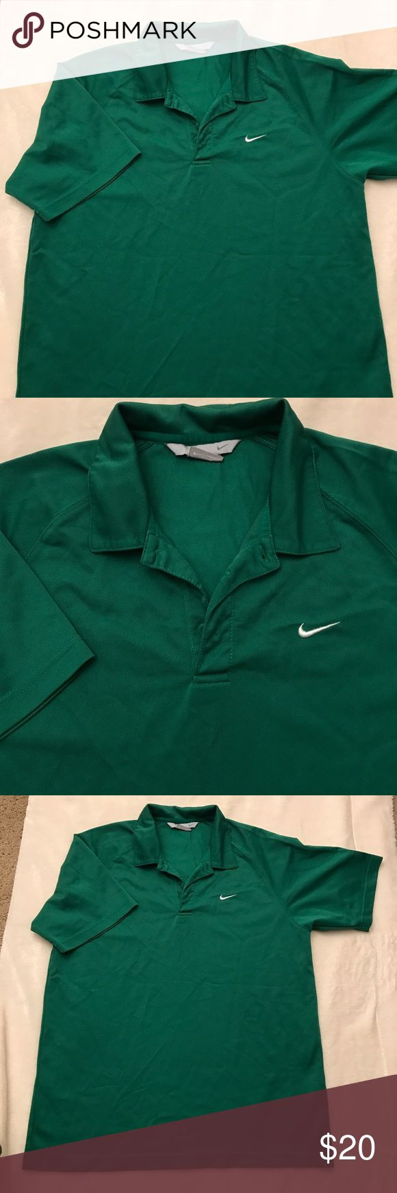 Nike polo shirt🏌🏼⛳️ Worn once size large runs a bit tight. Perfect polo for sports, golfing. Nike Shirts Polos