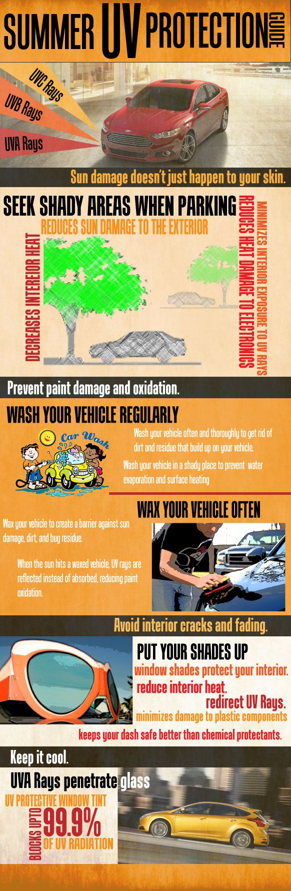 Infographic: These #summer car care tips will help keep your vehicle cool in the heat!  Kent's Muffler And Auto Inc  250 West 9210 South Sandy, UT 84070  Phone: 801-816-1600
