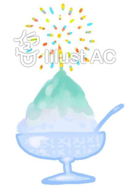 かき氷花火イラスト