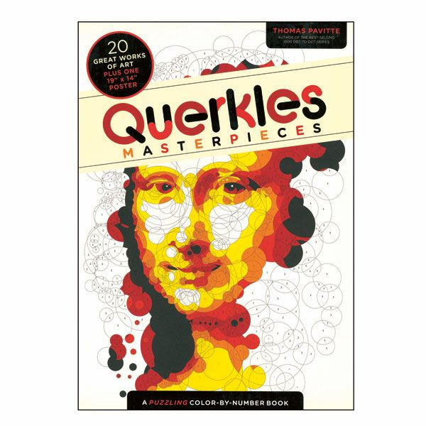 Querkles Masterpieces A Puzzling Color By Number Book Great Works Of Art Masterpiece Coloring Books