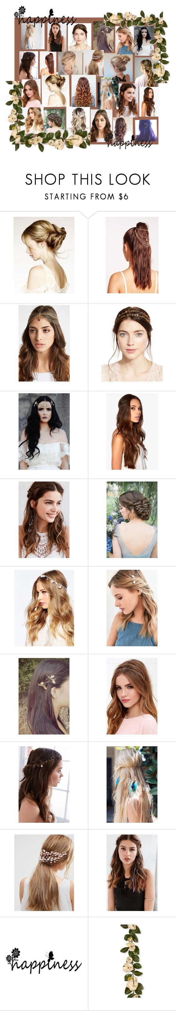 """""""Hairstyles"""" by farrukh-rabia ❤ liked on Polyvore featuring Missguided, BCBGeneration, Jennifer Behr, REGALROSE, ASOS, Urban Outfitters, LULUS and National Tree Company"""
