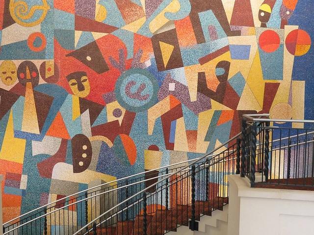Carlos Merida Mosaic Carlos merida, Pinturas mexicanas