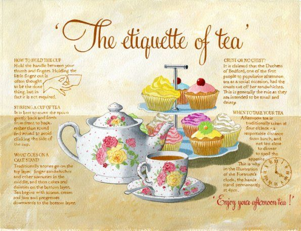 Tea etiquette is important to know. You never know in if your professional setting will place you in this situation. It is fun to teach young children this!