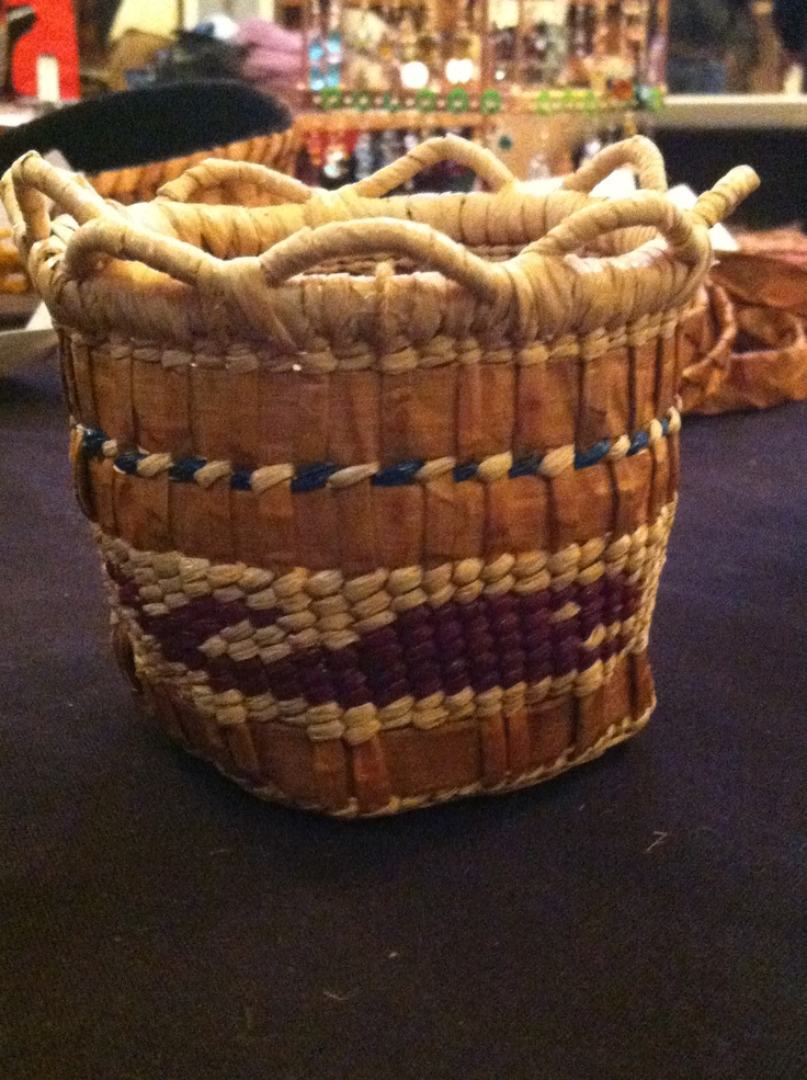 How To Weave A Cedar Basket : Images about cedar weaving on acrylics