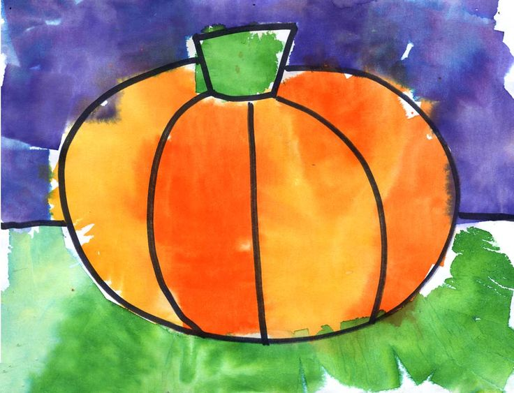 Art Projects for Kids: Tissue Paper Painting - I like the way she had the kids use a marker first to define the shape, I need to try that
