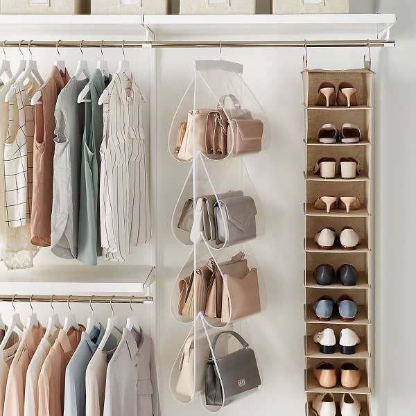 The Container Store S Most Useful Things In 2020 Hanging Closet Storage Closet Rod Purse Storage