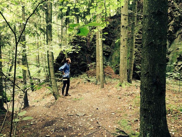 Kromě potoka jsou zde i skvělá skalní zákoutí :) (Autor: Honza)