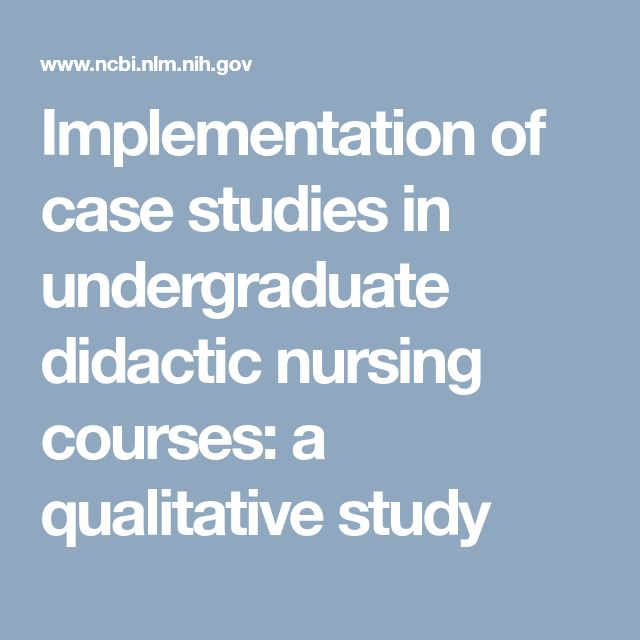 Implementation of case studies in undergraduate didactic nursing courses: a qualitative study