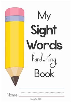 Sight Words Handwriting Book (Colors and Numbers). A fun way to practice reading sight words in context.